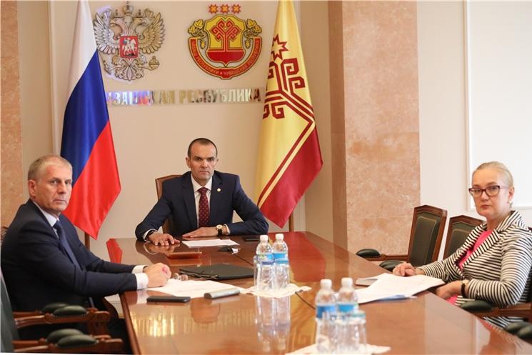 Глава Чувашии принял участие в совещании премьер-министра России по вопросам строительства школ и детских садов