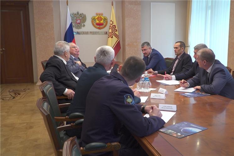 Глава Чувашии встретился с представителями Международной ассоциации участников космической деятельности.
