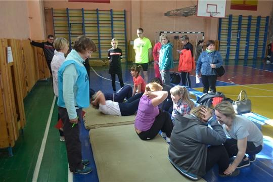 Работники сферы образования города Шумерля приняли участие в тестовых испытаниях  Фестиваля ВФСК «ГТО»