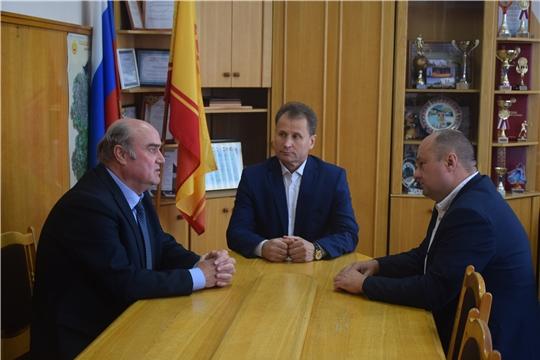 Шумерлю с рабочим визитом посетил депутат Государственного Совета Чувашской Республики Кислов Ю.М.