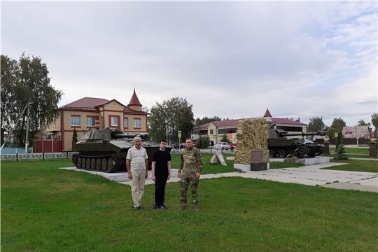 Шумерлинский поисковый отряд «Поиск» побывал у монументального комплекса погибшим воинам в Атяшево