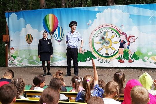 День в лагере «СОСНЯЧОК» г.Шумерля был наполнен интересными встречами и яркими соревнованиями