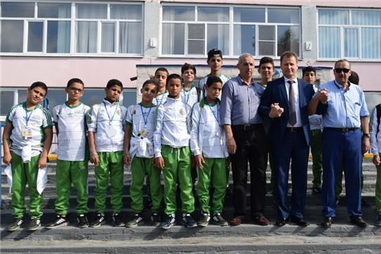 Гости из Республики Алжир, принимавшие в Шумерле участие в турнире по футболу среди детских команд, отправились к себе на Родину