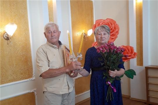 Торжественное мероприятие по случаю 50-летия совместной жизни семьи Шлыкановых