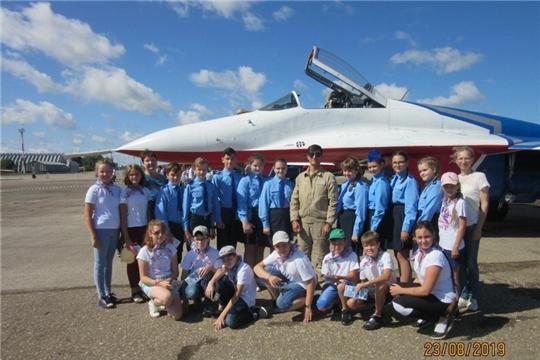 Отряд юных космонавтов гимназии №8 на праздновании 550-летия Чебоксар