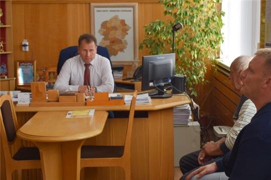 Глава администрации города Шумерля Алексей Григорьев провел очередной прием граждан по личным вопросам