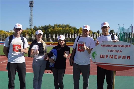 Команда администрации города Шумерля приняла активное участие в Фестивале спорта прессы Чувашской Республики