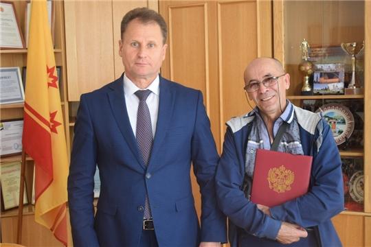 Вручение государственного жилищного сертификата участнику ликвидации Чернобыльской АЭС