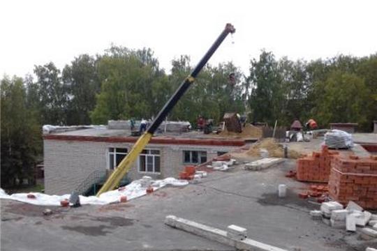 Работы по текущему ремонту кровли здания и пищеблока в детском саду № 14 «Солнышко»