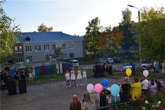 Праздничный вечер в честь Дня города во дворе дома №15 по улице Чайковского