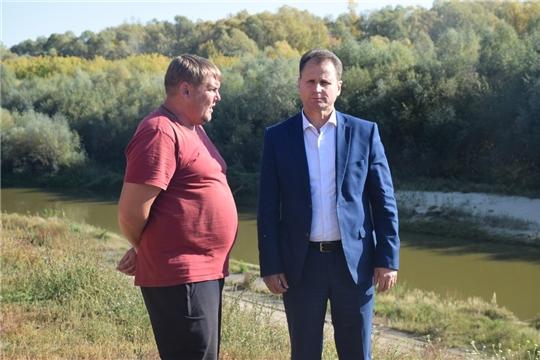 Глава администрации города  Алексей Григорьев на Сурском водозаборе и но площадках под новый блочно-модульные котельные