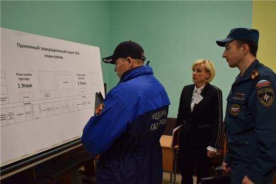 В Шумерле в ходе первого этапа командно-штабной тренировки состоялся смотр элементов гражданской обороны