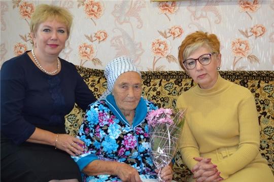 Персональное поздравление Президента РФ получила труженица тыла военных лет Вера Васильевна Потешонкова
