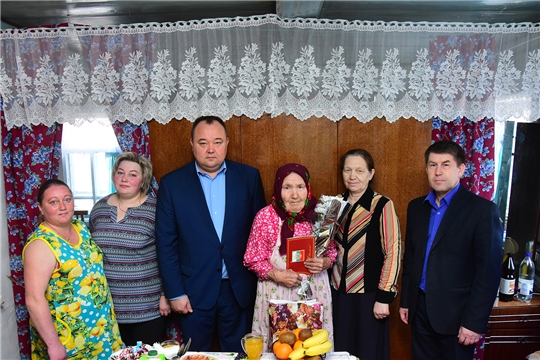90-летие отметила жительница села Новое Чурашево Ибесинского района Раиса Ермолаева