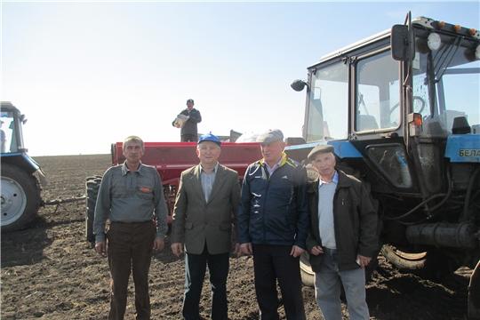 Весенне-полевые работы в Ибресинском районе идут полным ходом