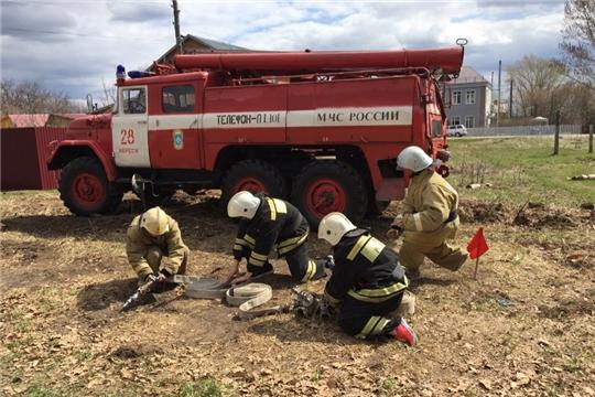 Встретились юные пожарные района