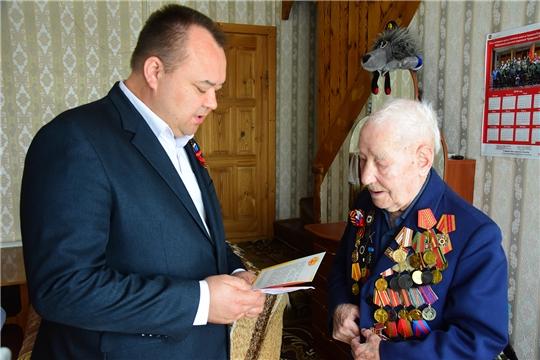 Глава администрации Ибресинского района Сергей Горбунов поздравил ветеранов Великой Отечественной войны