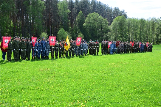 В Ибресинском районе прошли районные игры юнармейского движения «Зарница» и «Орленок»