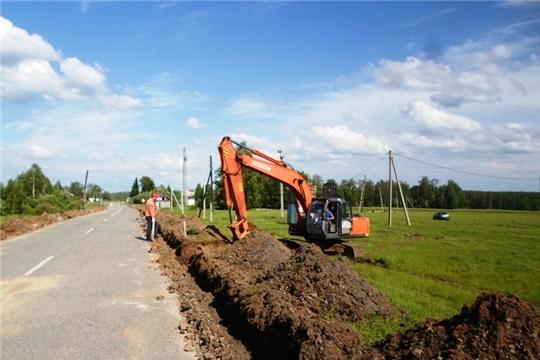 В Ибресинском районе идут работы по содержанию и ремонту автомобильных дорог общего пользования