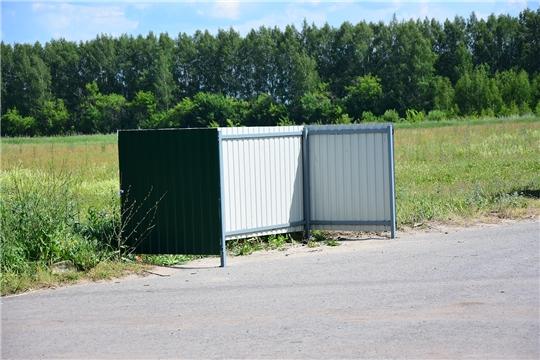 В Ибресинском районе устанавливаются новые контейнерные площадки
