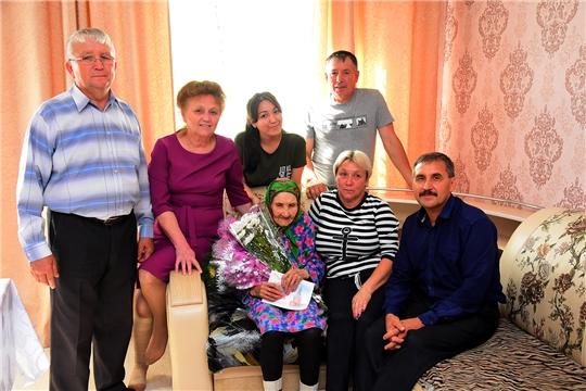 Поздравления с 90-летием получает жительница поселок Бугуяны Бурмистрова София Матвеевна.