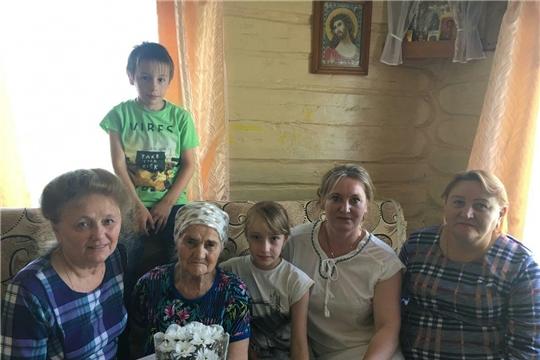 90-летие отметила жительница п.Буинск Малике Сайфуловна Федулова