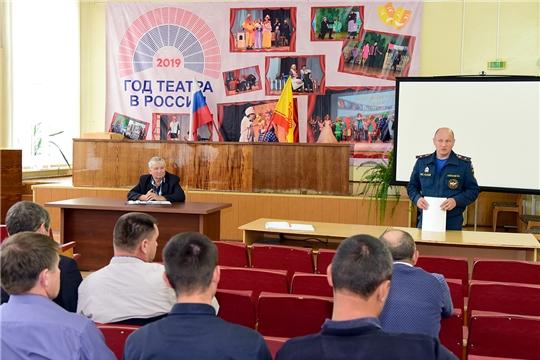 В Ибресинском районе прошло совещание по вопросам усиления мер пожарной безопасности