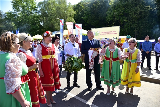Делегация Ибресинского района приняла активное участие на праздновании Дня города Чебоксары