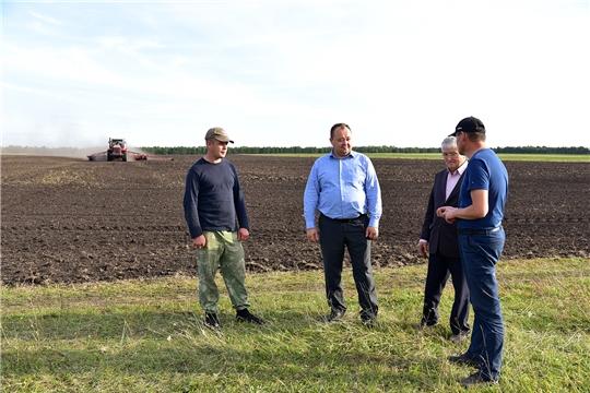 В Ибресинском районе сезонные полевые работы идут полным ходом