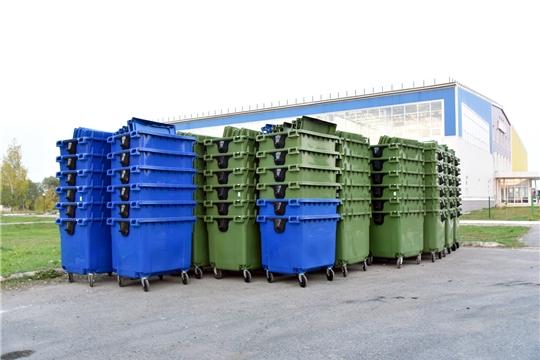 В Ибресинский район поступила первая партия евроконтейнеров для накопления ТКО