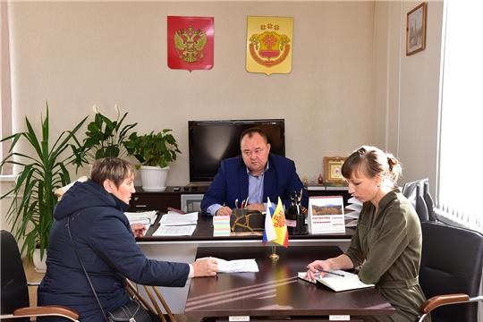 Глава администрации Ибресинского района Сергей Горбунов проводит приемы граждан