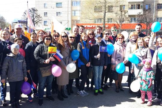 Коллектив Мининформполитики Чувашии встретил Первомайский праздник