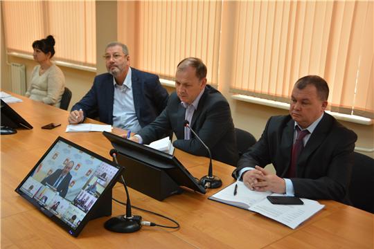 Совещание в режиме видеоконференцсвязи с ответственными за переход на цифровое эфирное телевещание в муниципальных районах и городах Чувашской Республики