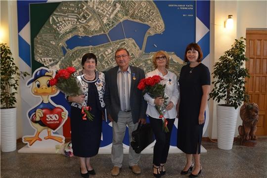 Вручение юбилейных медалей «В память о 550-летии города Чебоксары» представителям СМИ Чувашии