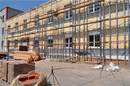 В поликлинике на Южном поселке г. Чебоксары продолжается капитальный ремонт