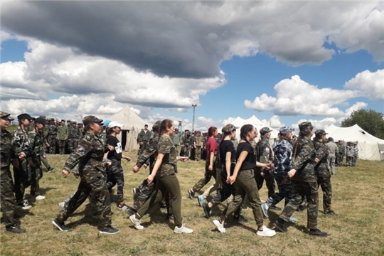 В Чебоксарах начал свою работу военно-спортивный лагерь «Патриот»