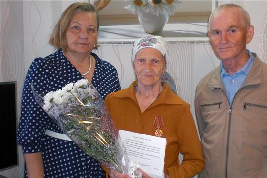 Долгожительница Калининского района получила поздравления с 90-летним юбилеем и 550-летием г. Чебоксары