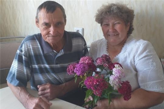 Комплексный центр г. Чебоксары поздравил супругов-долгожителей с Днем семьи, любви и верности