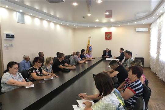 Глава администрации Калининского района города Чебоксары провел встречу с представителями улиц частного сектора