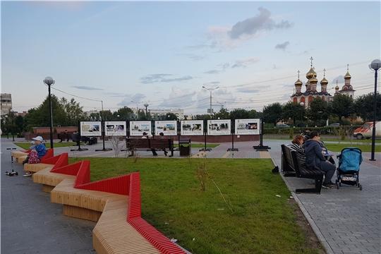 В Чебоксарах возле благоустроенных фонтанов появилась экспозиция, посвященная 550-летию города