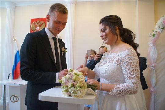 В год 550-летия г. Чебоксары в Калининском районе отмечается рост зарегистрированных браков