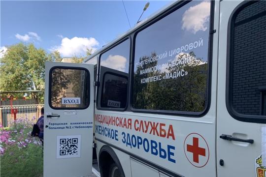 Жительницы Калининского района могут пройти маммографическое обследование рядом с домом