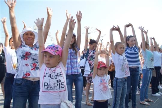 В год 550-летия г. Чебоксары около 2 тысяч жителей Калининского района выйдут на массовую «Зарядку со звездой»