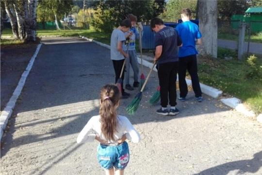 В Чебоксарском центре для детей-сирот и детей состоялся первый осенний субботник