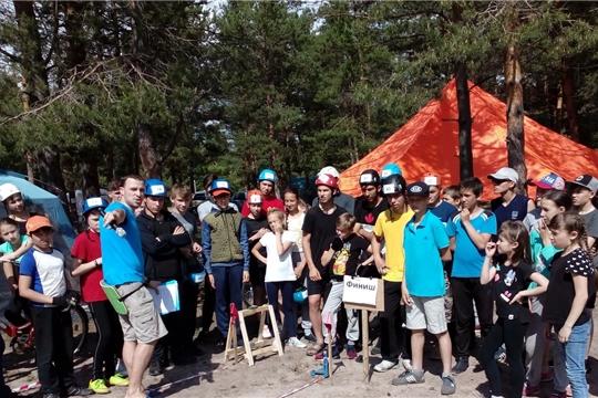 Ухманская СОШ Канашского района заняла 2 место на республиканских соревнованиях по спортивному туризму на велодистанциях