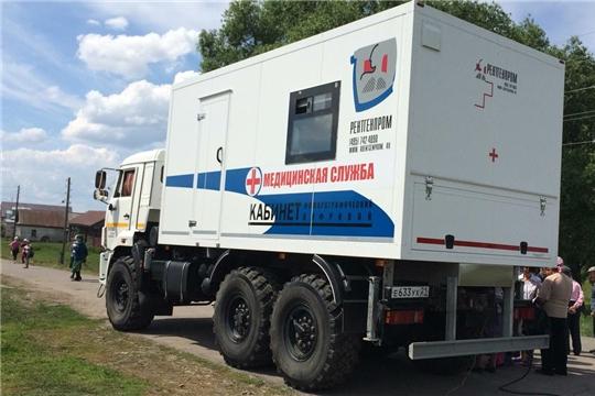 В Комсомольском районе работает флюорографическая передвижная установка