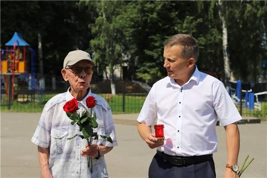 В Комсомольском районе прошла церемония возложения цветов, посвященная Дню памяти и скорби