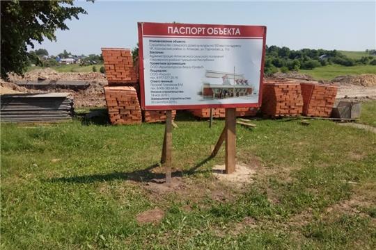 Идут строительные  работы Дома культуры в селе Аттиково Козловского района.