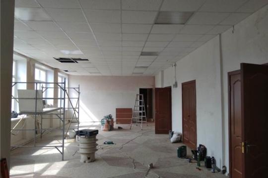 В Тюрлеминском сельском Доме культуры продолжаются ремонтные работы