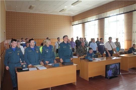 В Козловском районе подведены итоги командно-штабного учения